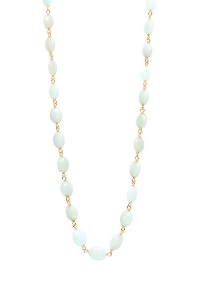 Caroline Ellen - Green Opal Wrap Necklace