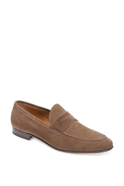 Gravati - Light Brown Suede Penny Loafer