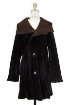 Viktoria Stass - Brown Shearling Hooded Coat