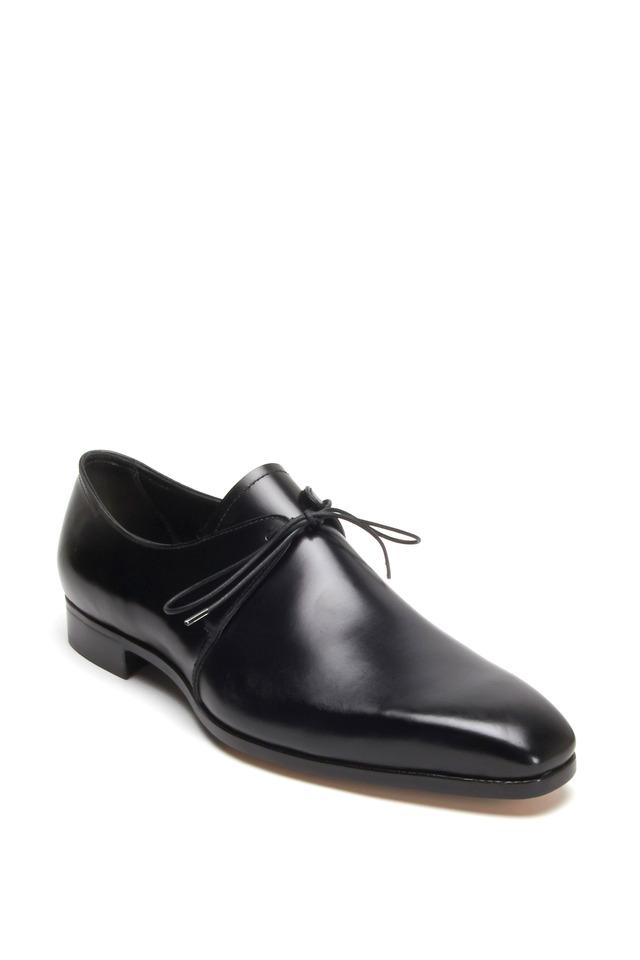 Black Leather Tuxedo Dress Shoe