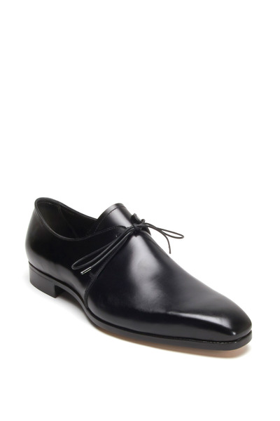 Gravati - Black Leather Tuxedo Dress Shoe