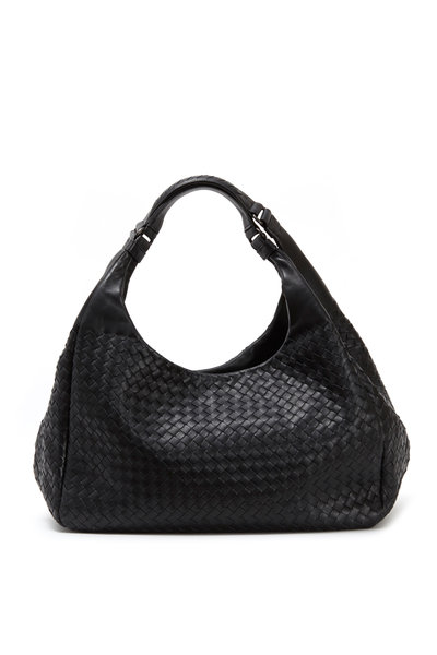 Bottega Veneta - Campana Black Intrecciato Leather Hobo