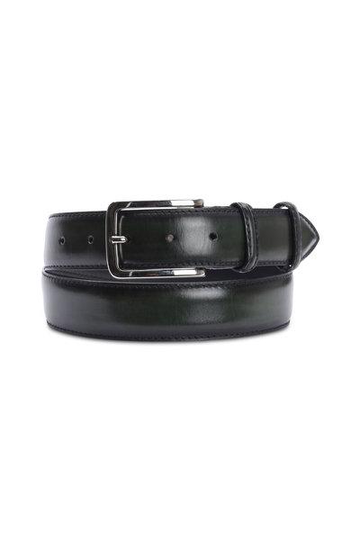 Bontoni - Dark Green Leather Belt