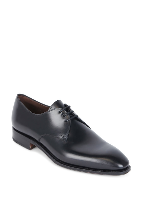 Carmina Simpson Black Leather Derby Shoe