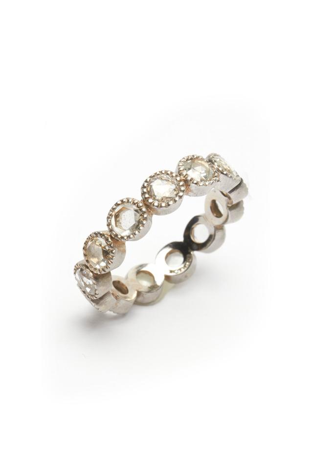 White Gold Rose-Cut Diamond Ring