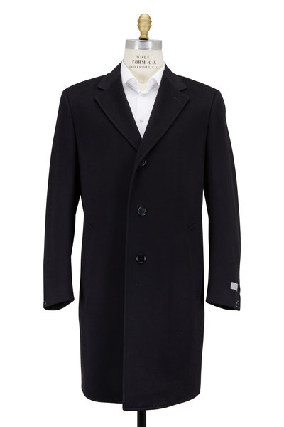 Canali - Black Wool & Cashmere Topcoat