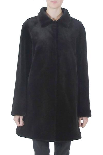 Oscar de la Renta Furs - Black Dyed Shealing Mink Coat