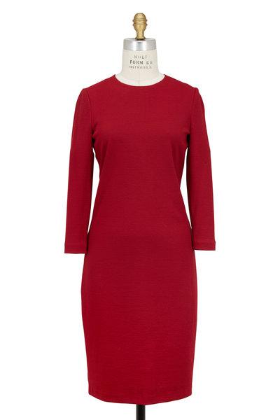 Vince - Crimson Stretch Bouclé Dress