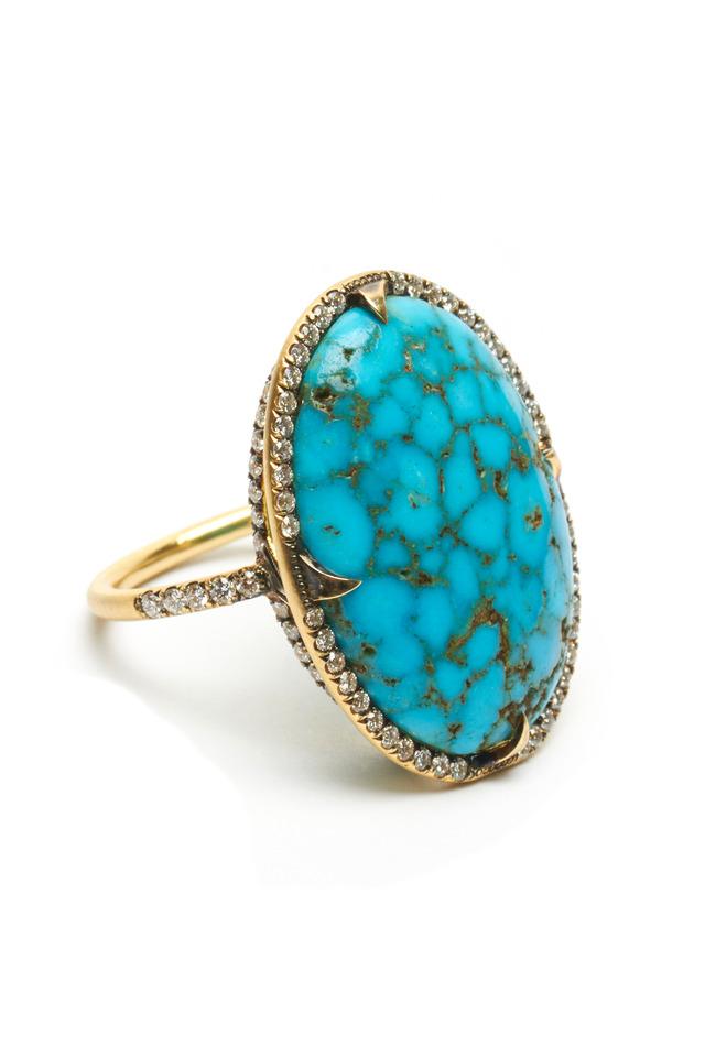 Kingman Turquoise Gold Ring
