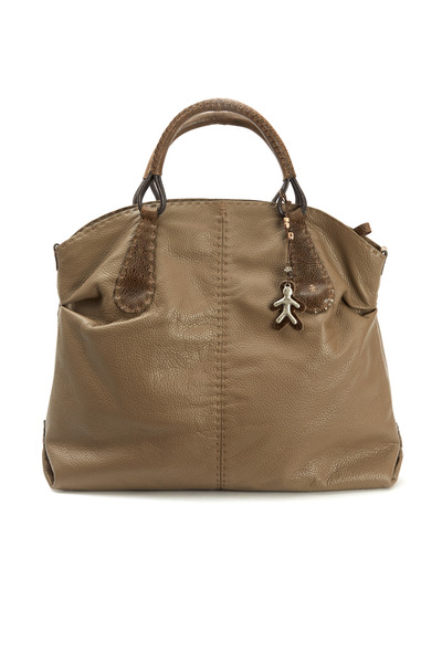 Henry Beguelin - Taupe Leather Satchel