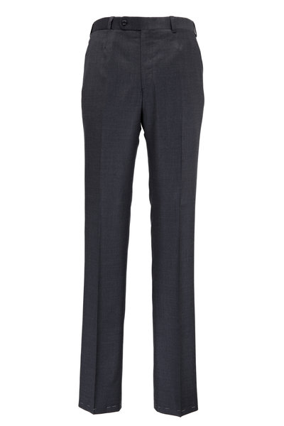 Oxxford Clothes - Monroe Medium Gray Wool Dress Pants