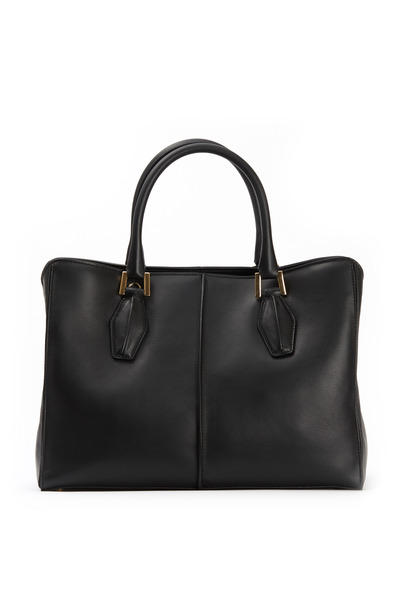 Tod's - D-Cube Black Leather Medium Tote