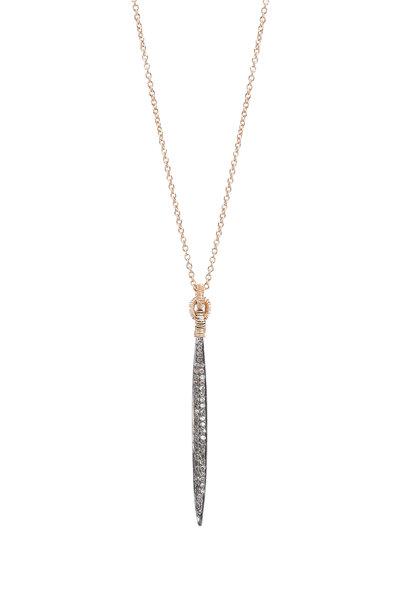 Dana Kellin - 14K Yellow Gold Pavé Diamond Dagger Pendant