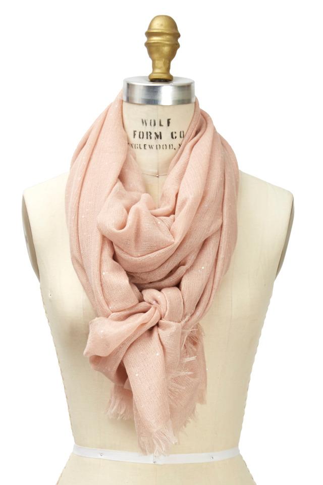 Light Pink Cashmere Pailette Scarf