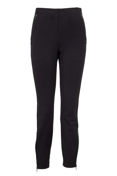 Norisol Ferrari - Black Stretch Tech Zip Ankle Pants