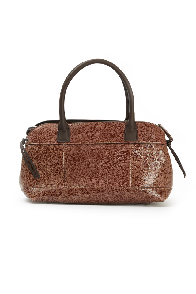 Signature Chocolate Leather Handbag