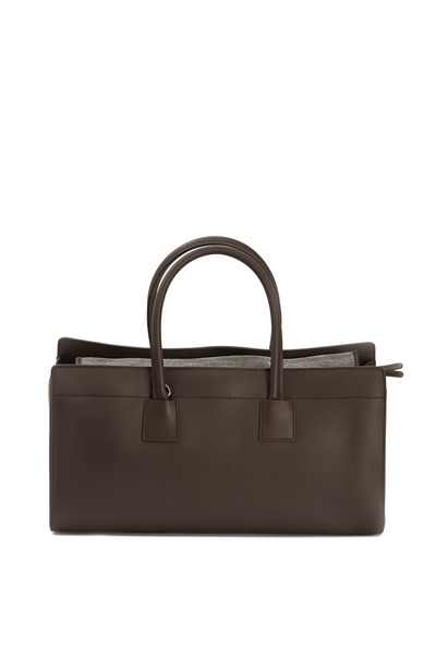 Brunello Cucinelli - Grey East West Calf Shopper Tote
