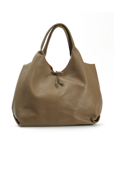Henry Beguelin - Canotta Taupe Leather Large Hobo