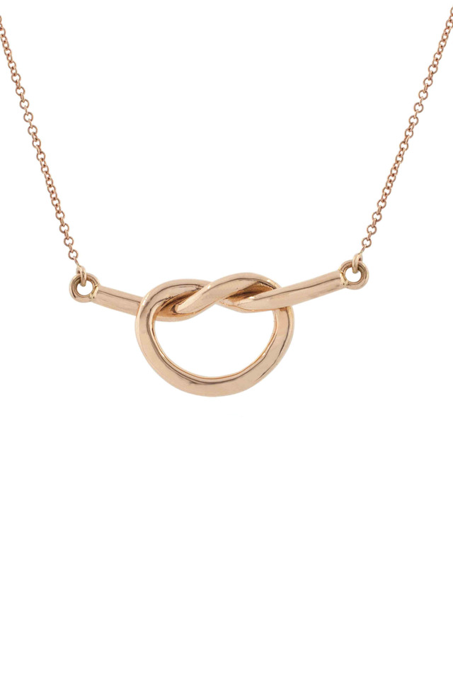 Rose Gold Love Knot Necklace
