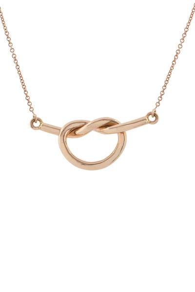 Kimberly McDonald - Rose Gold Love Knot Necklace