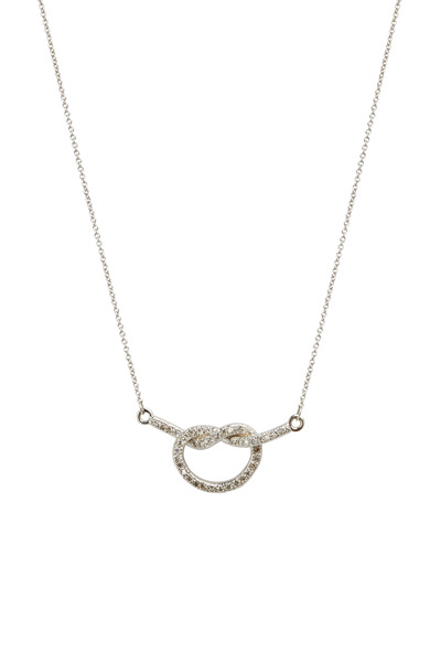 Kimberly McDonald - White Gold Diamond Love Knot Necklace