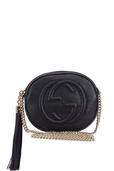 Gucci - Soho Black Leather Mini Crossbody