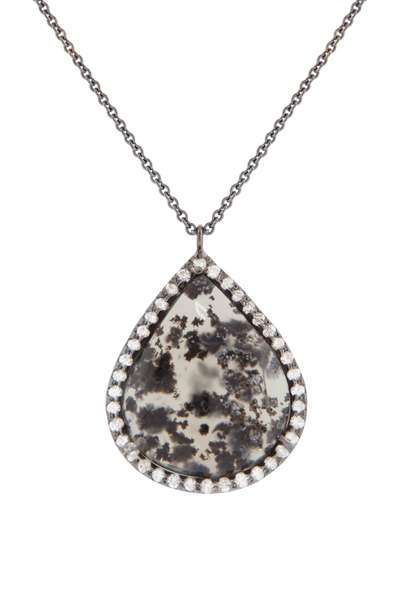 Kimberly McDonald - Smokey Agate & Diamond Pendant