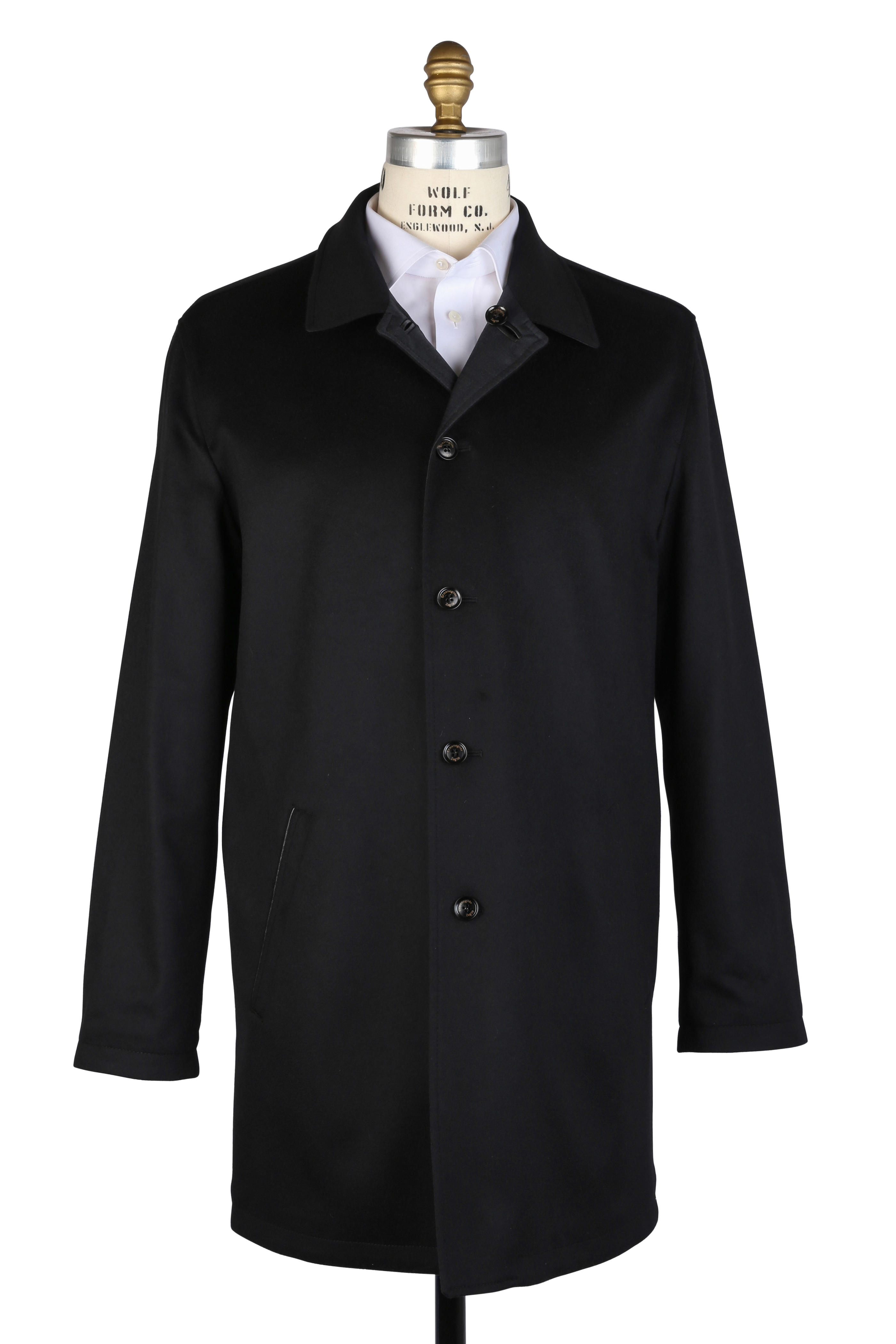 3aa7e24a Ermenegildo Zegna - Black Cashmere & Wool Reversible Coat | Mitchell ...