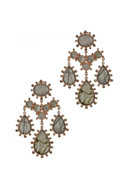 Nam Cho - Pom-Pom Girandole Earrings
