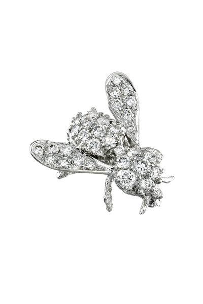 Aaron Henry - Gold Diamond Bee Brooch