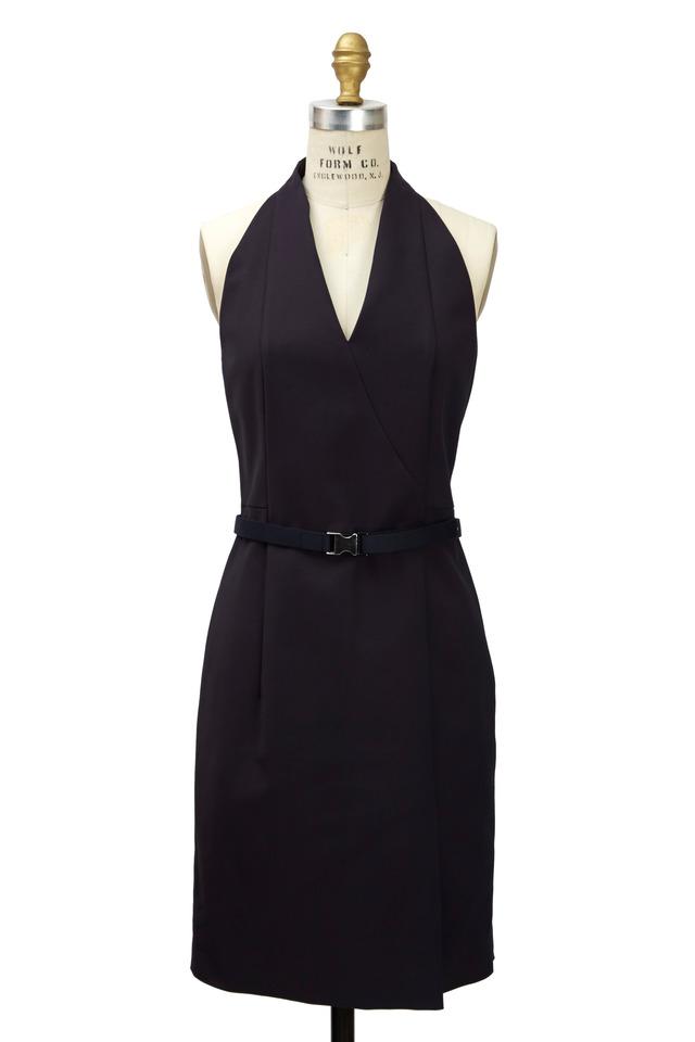 Purple Mesh Back Dress