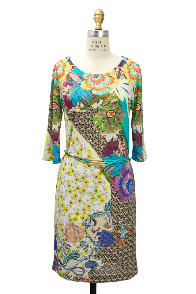 Floral Jersey Print Dress