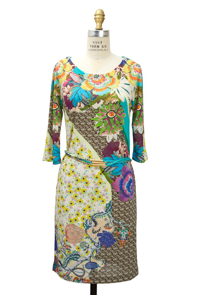 Etro - Floral Jersey Print Dress
