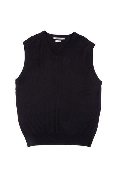 Peter Millar - Black Merino Wool Sweater Vest