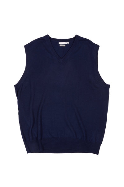 Peter Millar - Navy Blue Merino Wool Sweater Vest