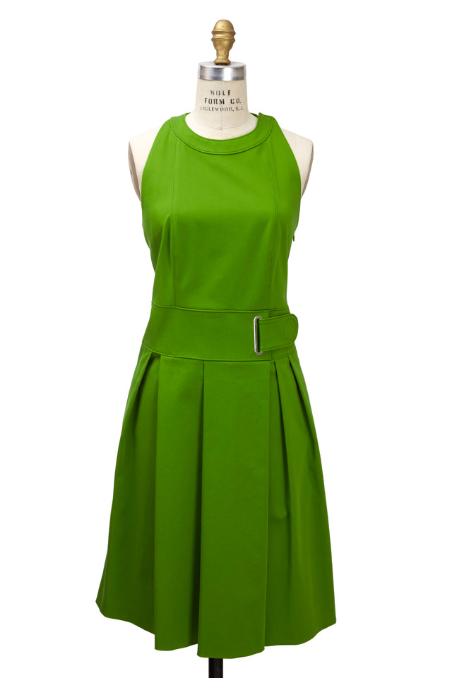Green Cross-Back Dress
