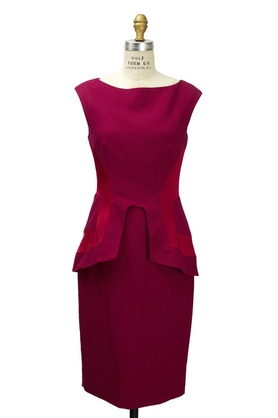 Lela Rose - Fuchsia Satin Sheath