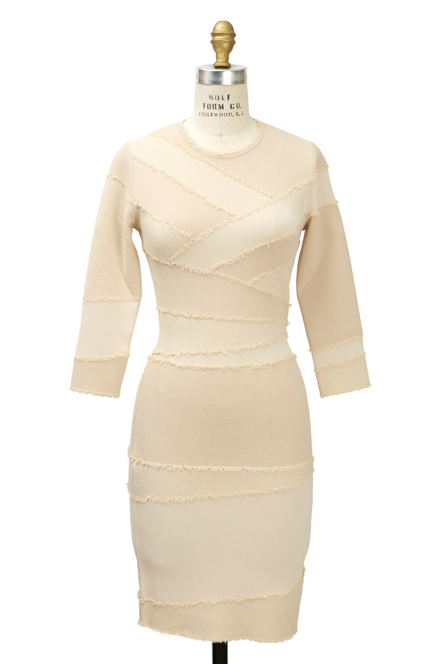 Ecru Viscose Bandage Dress