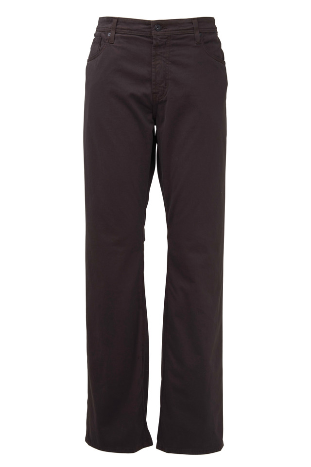 Protege Brown Stretch Cotton Five Pocket Pants