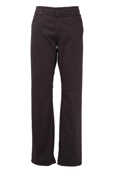 AG - Adriano Goldschmied - Protege Brown Stretch Cotton Five Pocket Pants