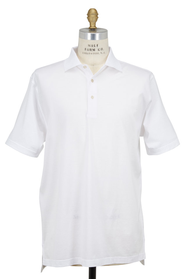 Lisle White Luxury Polo