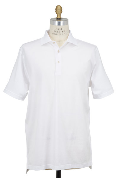 Peter Millar - Lisle White Luxury Polo