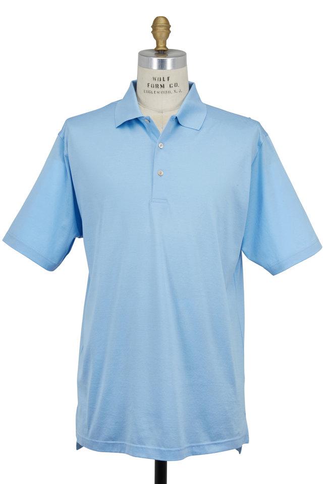 Lisle Light Blue Luxury Polo