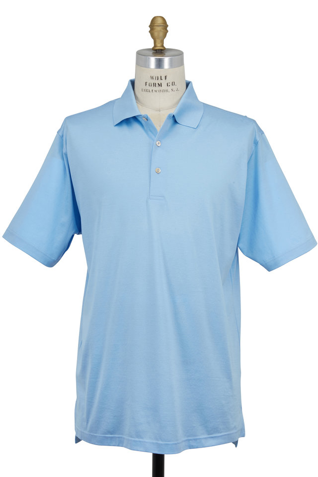 Lisle Light Blue Luxury Polo