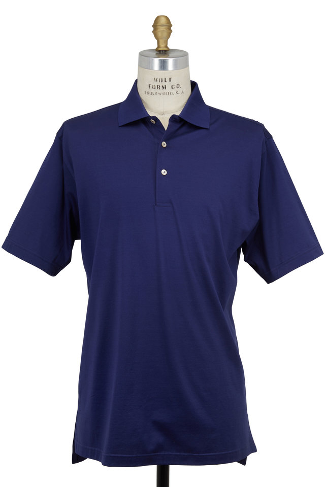 Lisle Navy Blue Luxury Polo