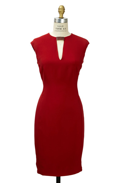 Ralph Lauren - Nichole Red Cady Dress