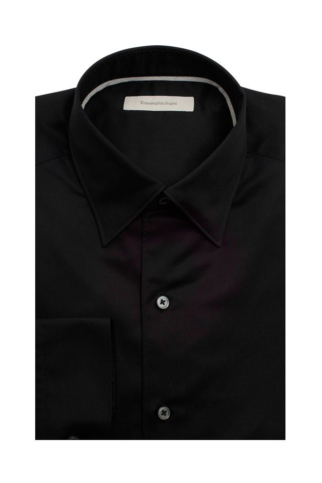 Black 3-Ply Sport Shirt