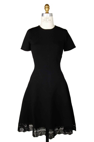 Oscar de la Renta - Black Knit Dress