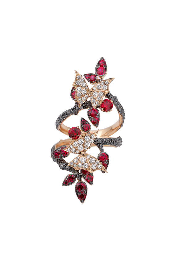 Stephen Webster 18K Rose Gold Diamond Ring