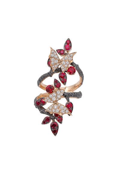 Stephen Webster - 18K Rose Gold Diamond Ring